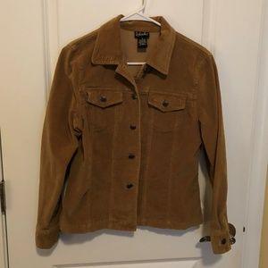 Rafaella Tan Corduroy Jacket - Size: 8
